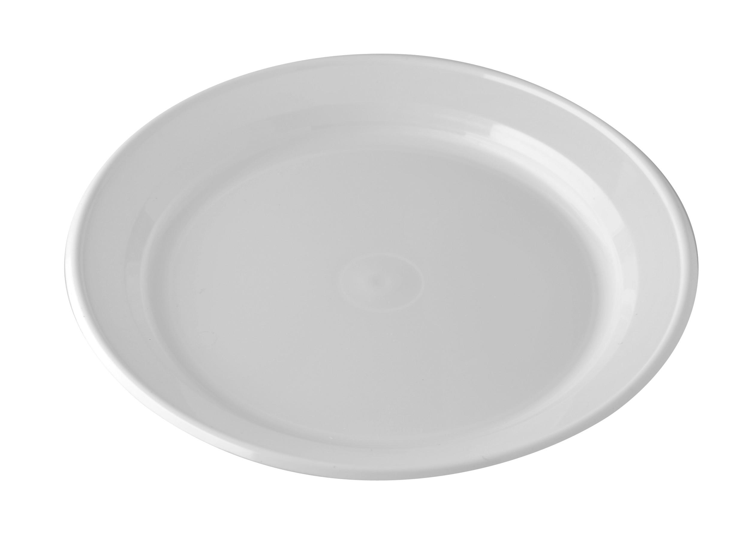 """MS 150 6"""" Plastic Plate (White)(100pcsx8pkt)"""