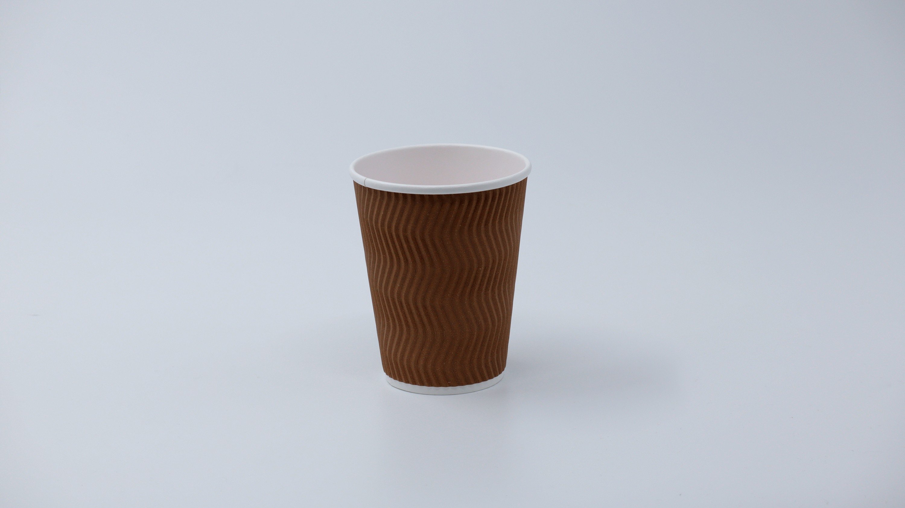 12 oz S-Ripple Paper Cup (Brown) (Chef)