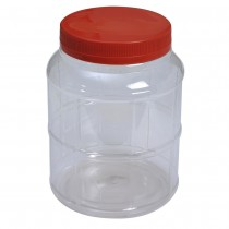 4054 Pet Jar with Red Cap (32Pcs/Bag)