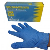 Warm Blue Nitrile Glove(M)蓝色(Skintex)