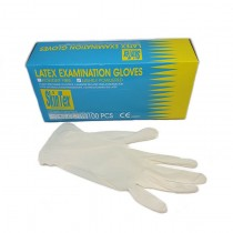 Latex Examination Gloves (skin tex) (Medium)