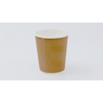 8 oz S-Ripple Paper Cup (Brown) (Chef)