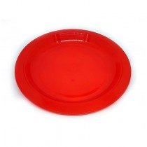 "MS 230P 9"" Plastic Plate (Red)"