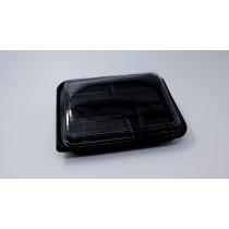 5 COM  BENTO BOX & LID (BLACK) PP-L8306